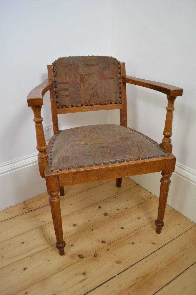 ANTIQUE 1800's VICTORIAN OAK WOODEN WOOD ARM CHAIR SCOTTISH MADE Wood Arm  Chair, Armchair, - ANTIQUE 1800's VICTORIAN OAK WOODEN WOOD ARM CHAIR SCOTTISH MADE