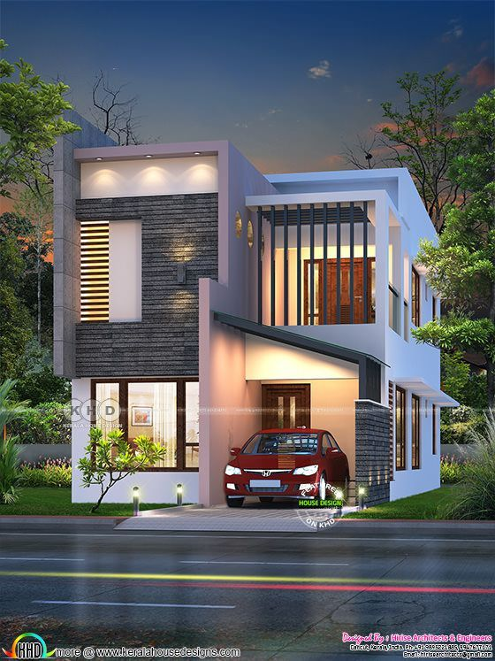 1460 sq-ft feet small ultra modern double storied house ...