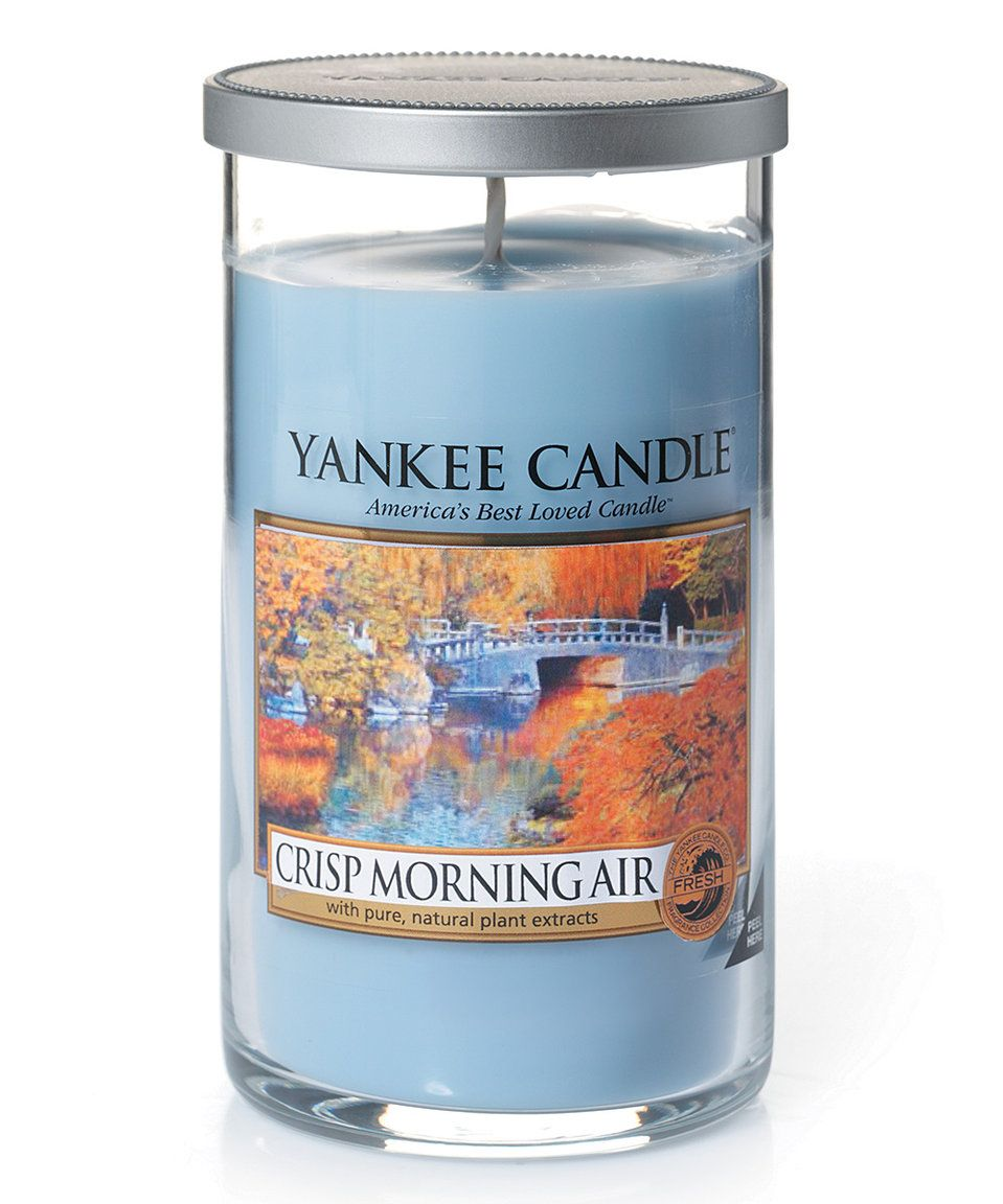Take a look at this crisp morning air oz perfect pillar candle
