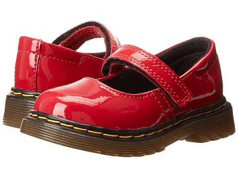 8c3cc817d596 Dr. Martens Kid s Collection Tully Mary Jane (Toddler) Red Patent Lamper -  6pm.com