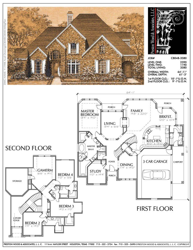Two Story Home Plan C8048 Two story homes, Mountain