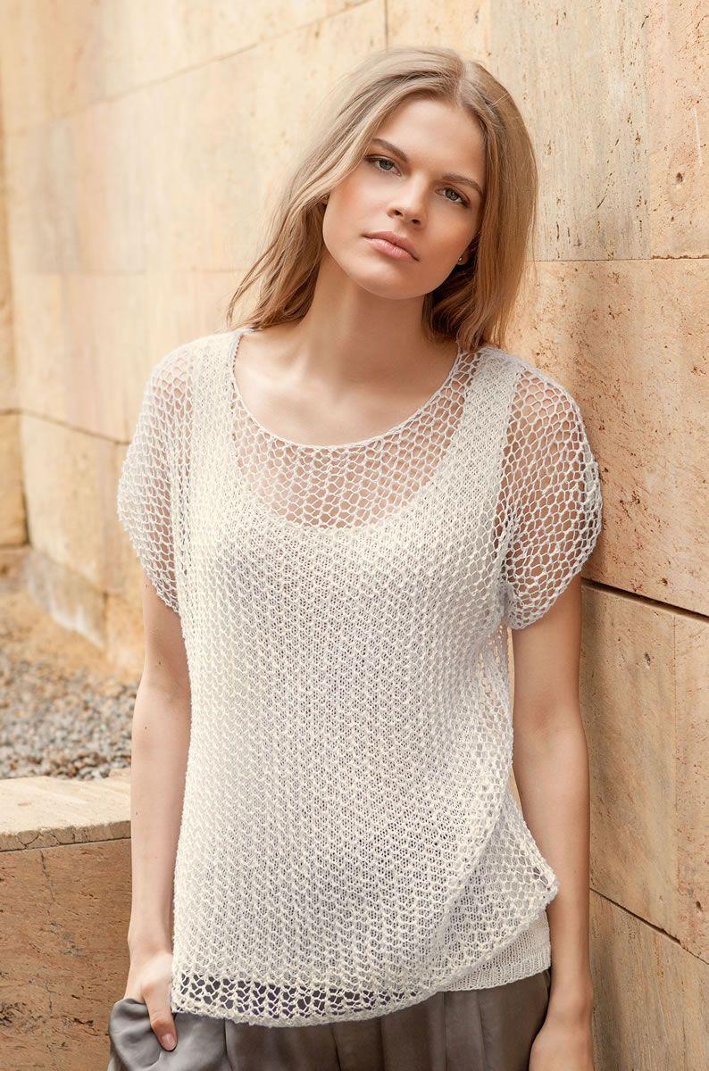 Lana Grossa KURZARM SHIRT Solo Lino | Pinterest | Blusas tejidas ...