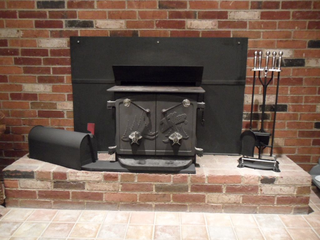 Wood Stove With Mailbox Blower Housing Wood Fireplace