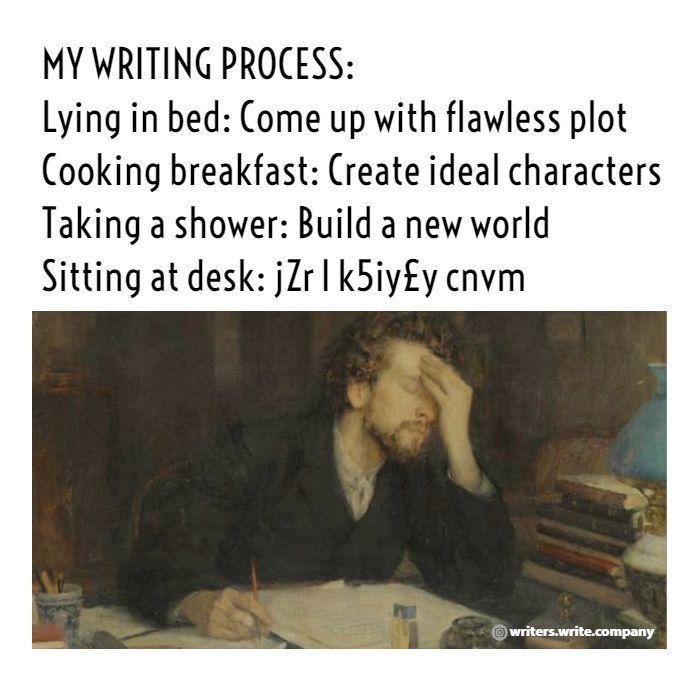 Photo of My Writing Process   Writers Write