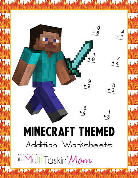 Minecraft Addition Worksheets Pack | Awesome Projects | Pinterest