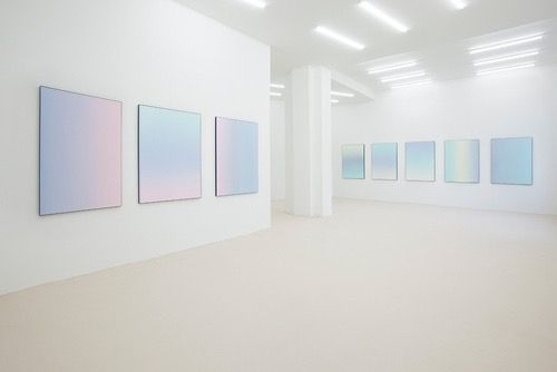 Aesthetic art bambi blue pale pastel pink white for Minimal art gallery