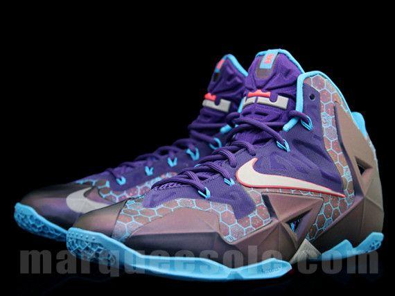 Love Nike Lebr11 Boys' Toddler Shoes James Lebr Court Purple/Reflective Silver/Vivid Blue