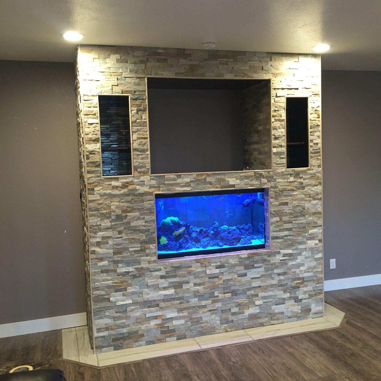 Fish tank and tv stand diy pinterest fish tanks tv for Fish tank fireplace