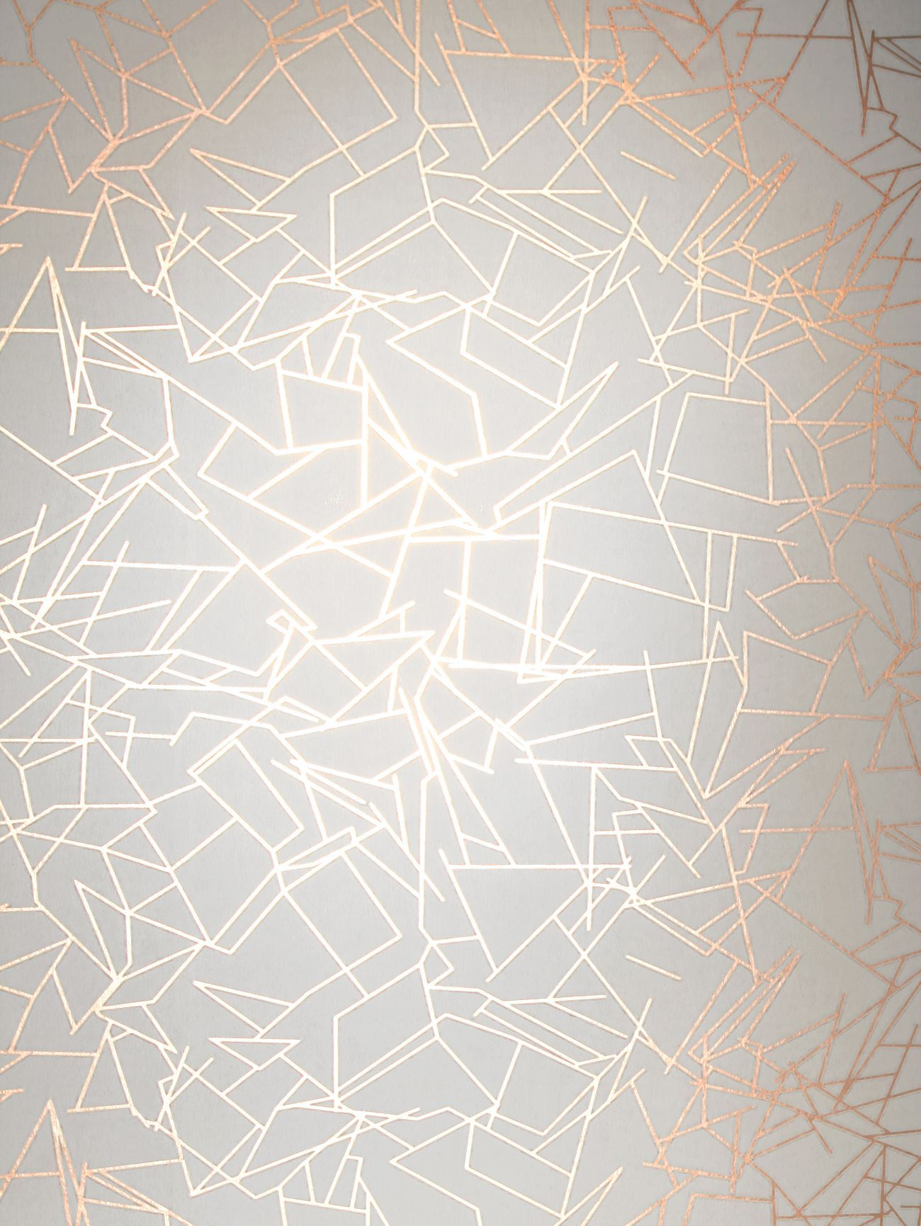 Angles By Erica Wakerly Copper Rose White Wallpaper