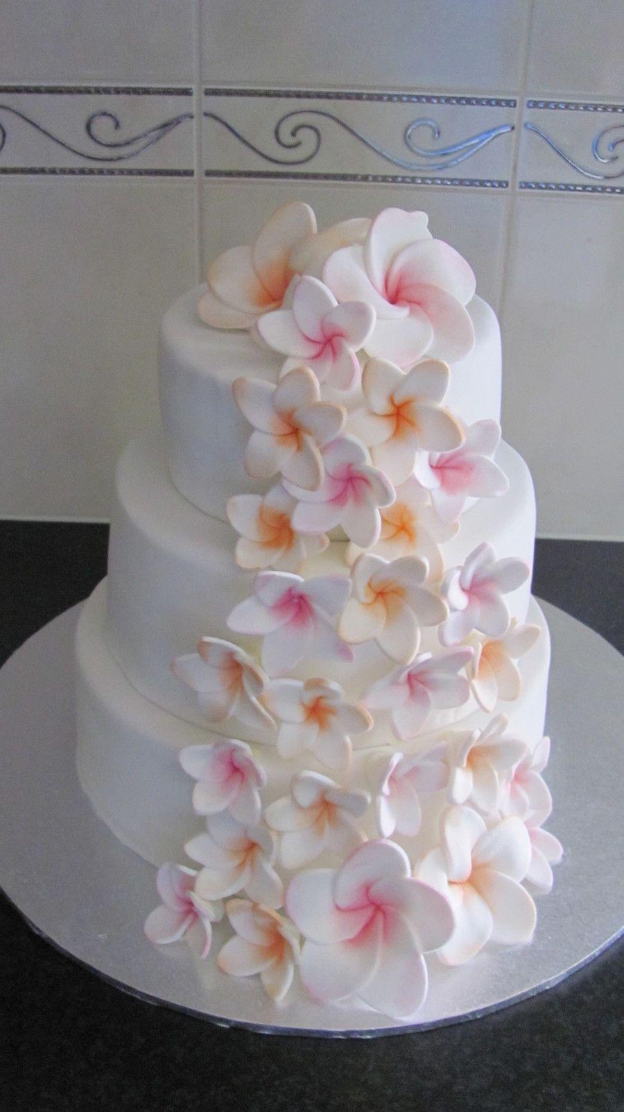 Plumeria Frangipani Wedding Cake On Cake Central Round Wedding