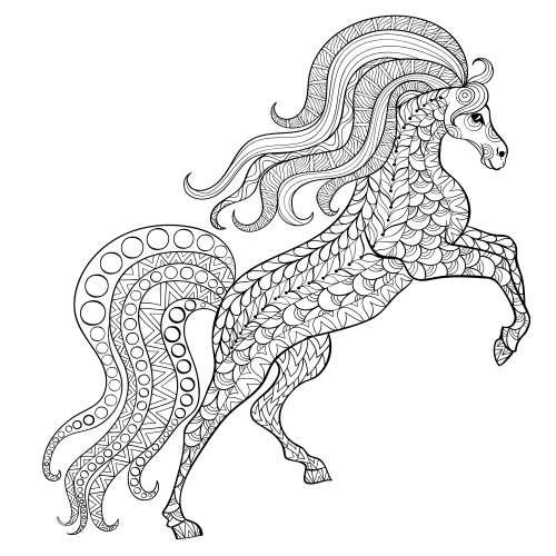 Advanced Animal Coloring Page 26 Kidspressmagazine Com Animal Coloring Books Antistress Coloring Horse Coloring Books