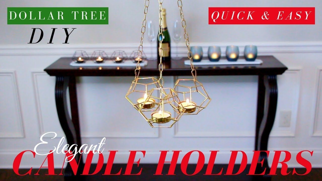 Dollar tree diy candle holders dollar treee diy room decor only