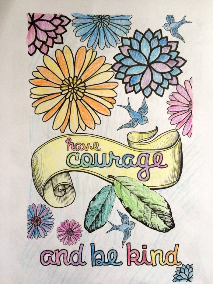 Cinderella Inspired Grown Up Colouring Pages: Have Courage and Be ...