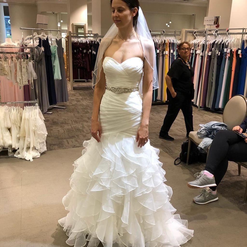 Organza Mermaid Wedding Dress With Ruffled Skirt David S Bridal Wedding Dresses Mermaid Wedding Dress Ruffle Wedding Dress