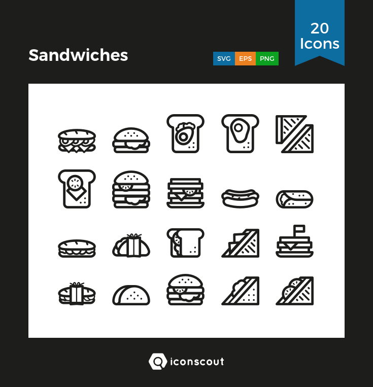 Download Sandwiches Icon Pack Available In Svg Png Eps Ai Icon Fonts Icon Pack Icon Sandwiches