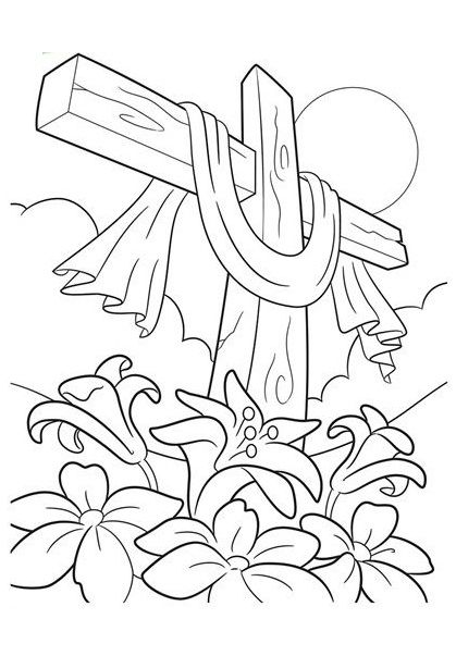 jesus on the cross coloring page # 38