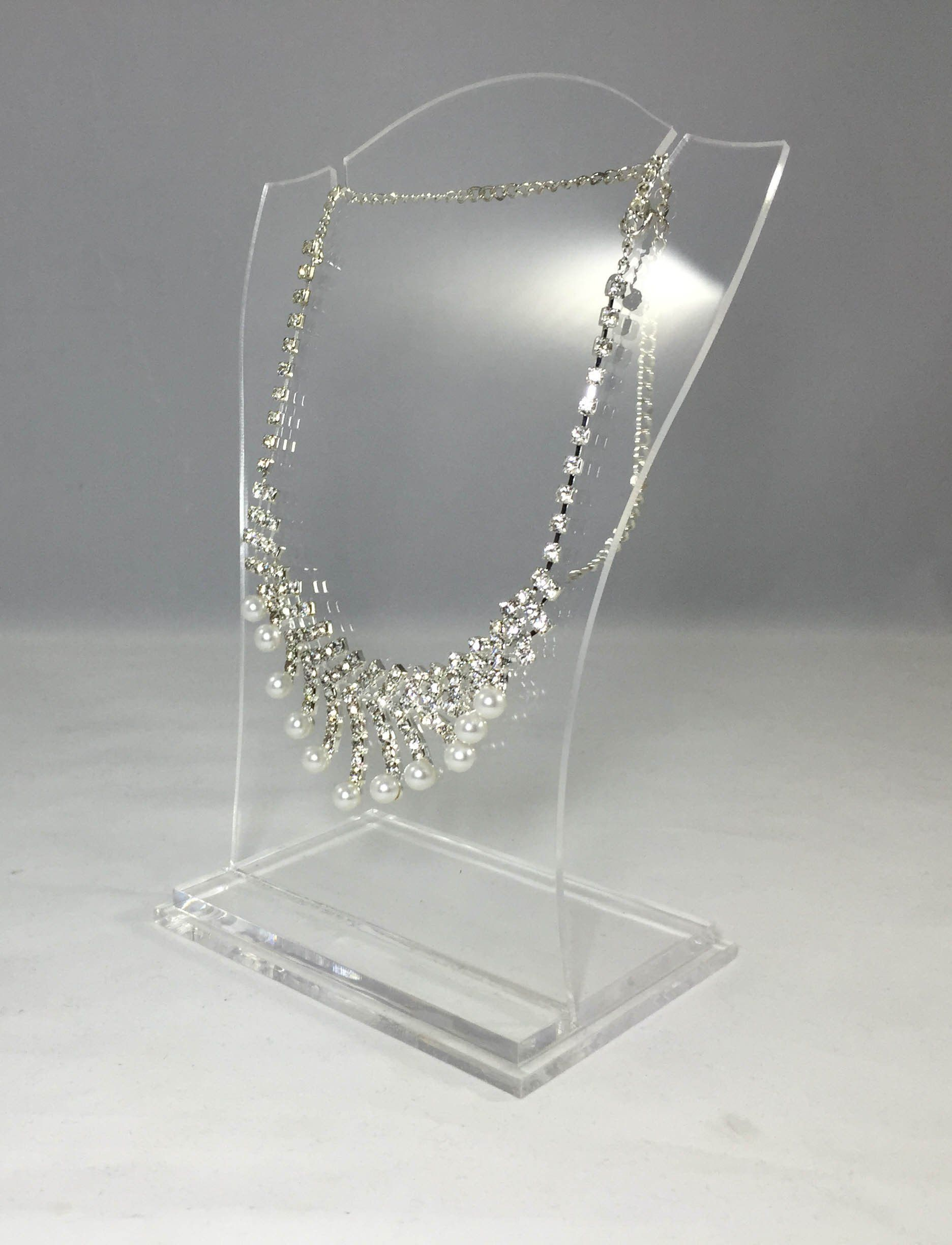 Clear Acrylic Plexigl Necklace