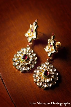 Indian Wedding Earrings Bridal Jewelry In Picturesque Garba By Erin Shimazu Photography San Go California