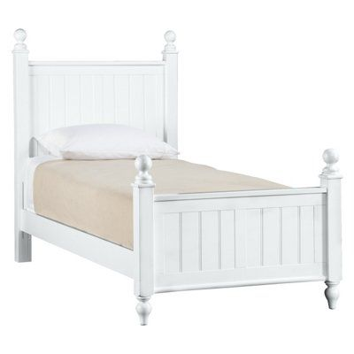 Young America White Twin Bed American Bedroom Cottage Bed