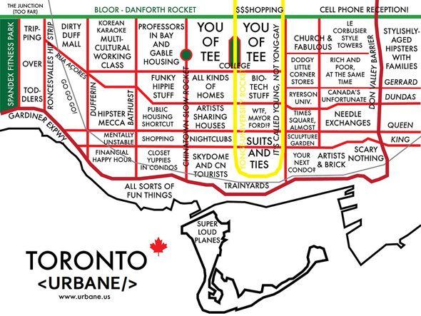NeighbourhoodStereotype Map Funnies Pinterest Toronto and City