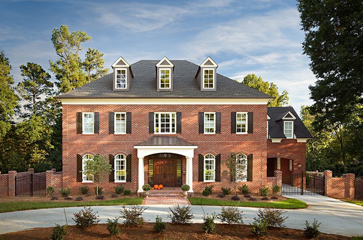 Brick offers unlimited style and personality options, and with brick, ordinary features become extraordinary. Arches and accent bands make this home's windows pop; brick steps with special shape brick and mortared brick pavers in a herringbone pattern create a beautiful entrance. http://insistonbrick.com/
