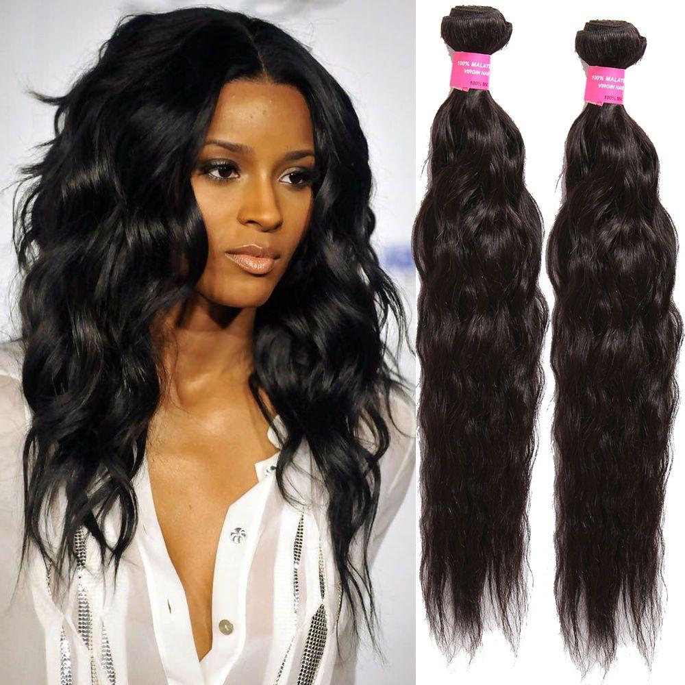 Real Human Hair Extensions Black Hair Weaving 100gbundle Beauty