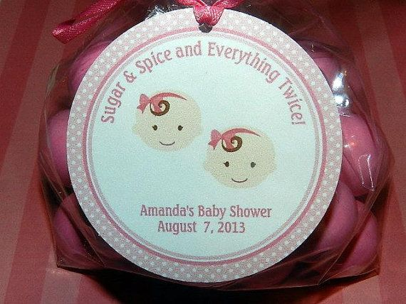 twins baby shower baby shower favor tags baby shower decorations