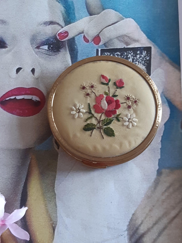 1940s Petit Point Makeup Compact