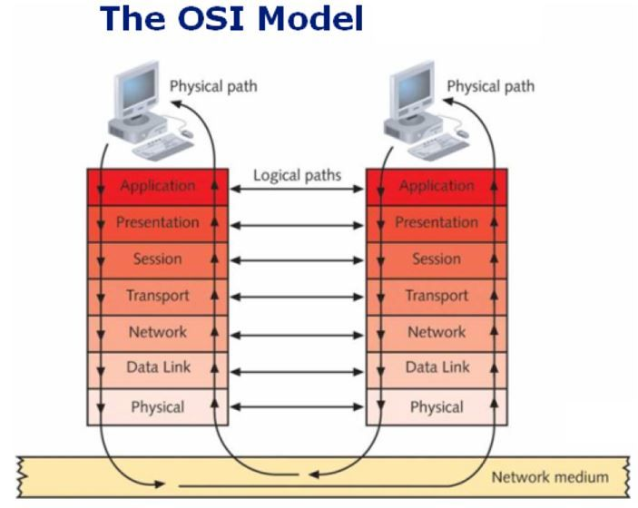Diagram Of How Data Flows Via The Osi Model From Network Textbook