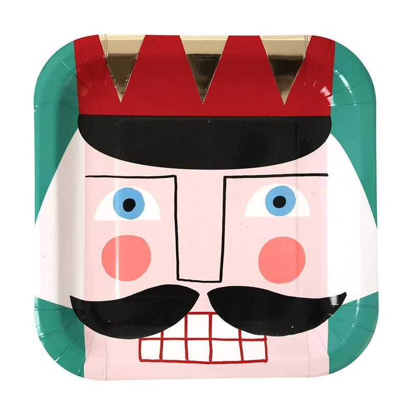 Nutcracker Square Christmas Plates  sc 1 st  Pinterest & Nutcracker Square Christmas Plates | Squares and Products