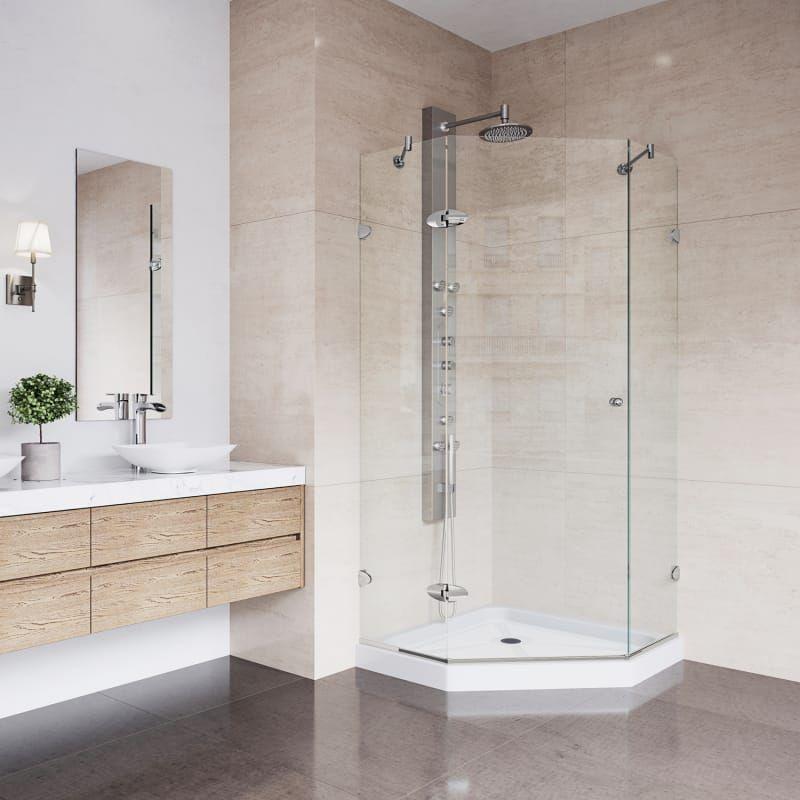 Vigo Vg606136ws Frameless Shower Enclosures Neo Angle Shower