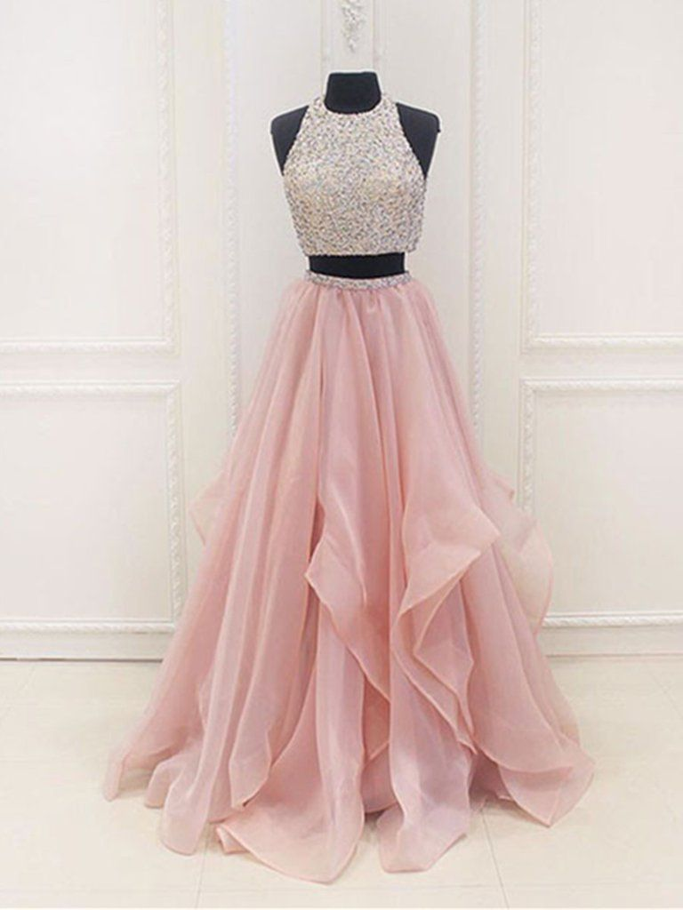 Custom Made A Line Round Neck 2 Pieces Pink Prom Dresses 2 Pieces Pink Formal Dresses In 2021 Green Prom Dress Cute Prom Dresses Mint Green Prom Dress [ 1024 x 768 Pixel ]