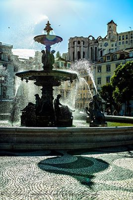 Fonte do Rossio, Lisboa - Portugal.  *One day, we will stand next to that fountain and feel the cool spray of water on our upturned faces.*