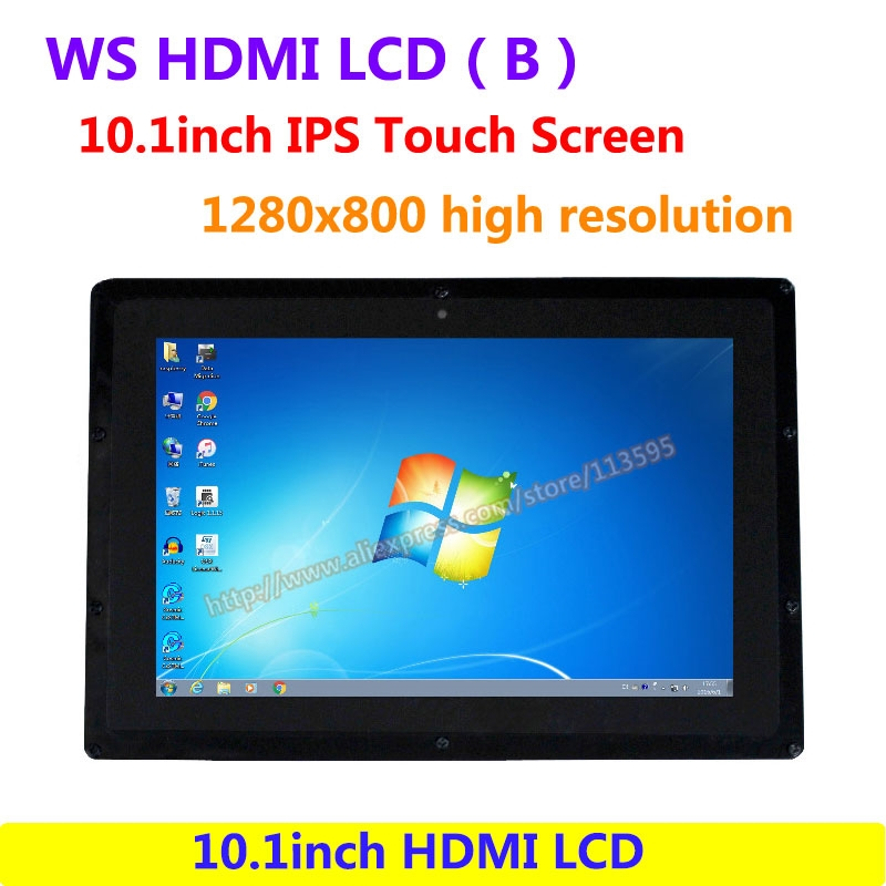 104.66$  Know more  - WS 10.1inch HDMI LCD (B) (with case) IPS Touch Screen 1280x800 high resolution Supports all Raspberry PI&Multi mini-PC