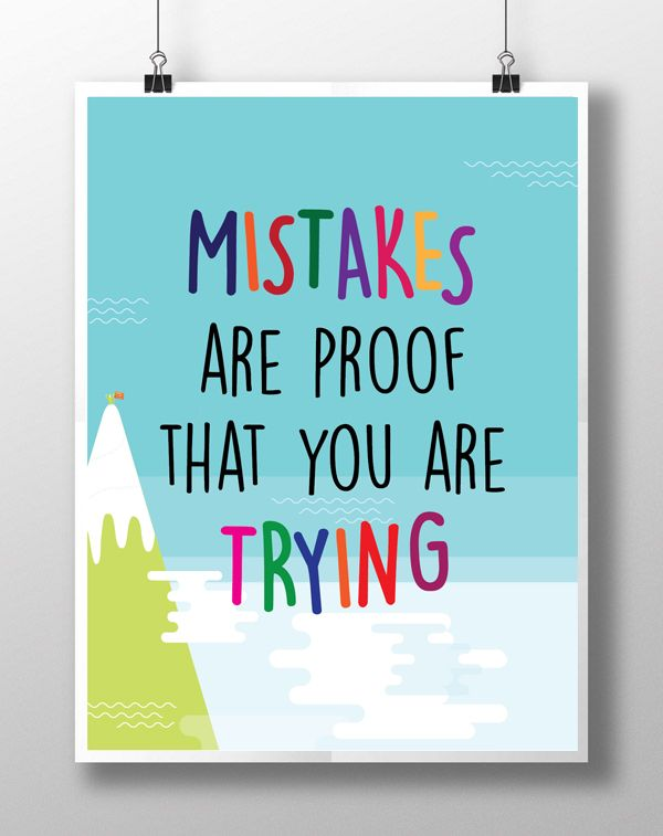 Printable Mistakes Are Proof That You Are Trying Motivational