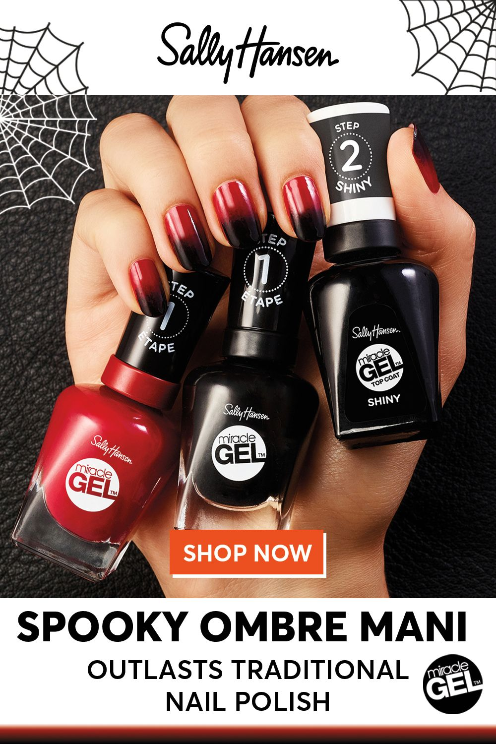 Miracle Gel The Longer Lasting Manicure Nail Art Ombre Stiletto Nails Designs Long Nail Designs