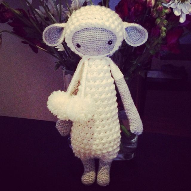 LUPO the lamb made by Missmystery / crochet pattern by lalylala