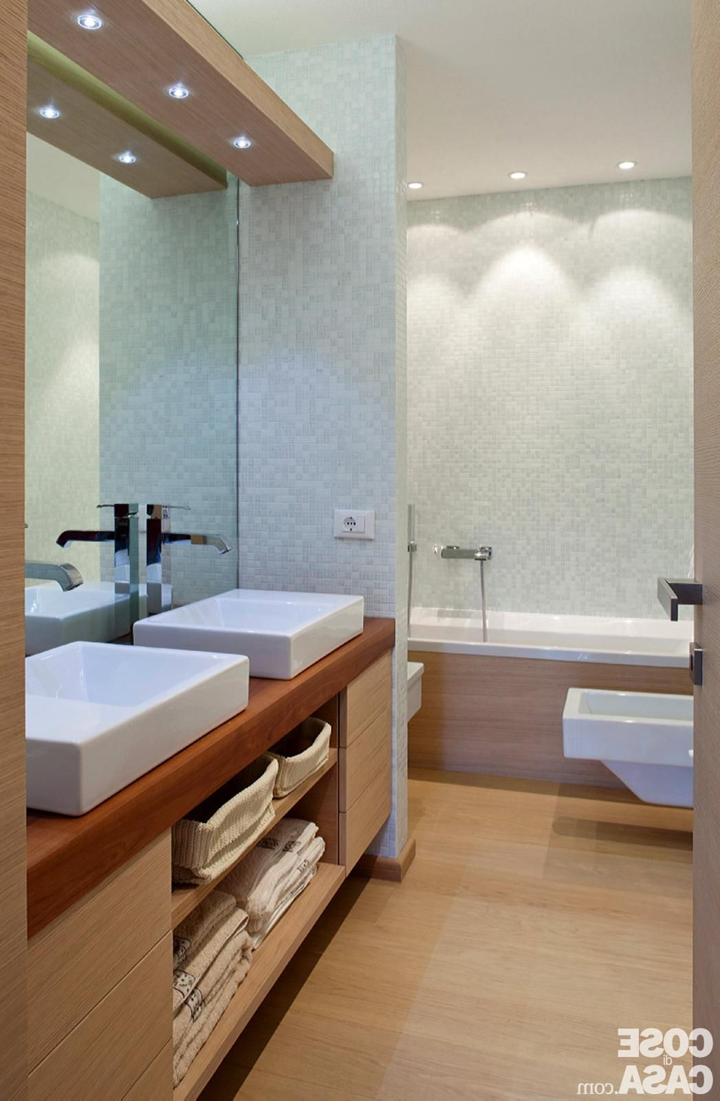 Minimalist Modern Master Bathroom Interior Design With Soft Lighting on custom luxury bathroom designs, elegant master bathroom shower designs, modern 2 story house designs, modern master bathroom designs,
