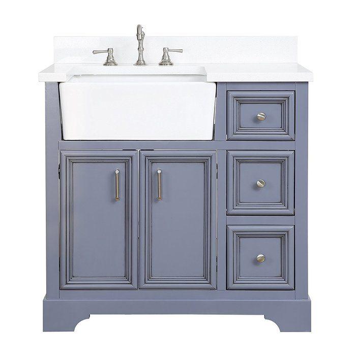 Zelda 36 Single Bathroom Vanity Set Farmhouse Vanity Single Bathroom Vanity 36 Inch Bathroom Vanity