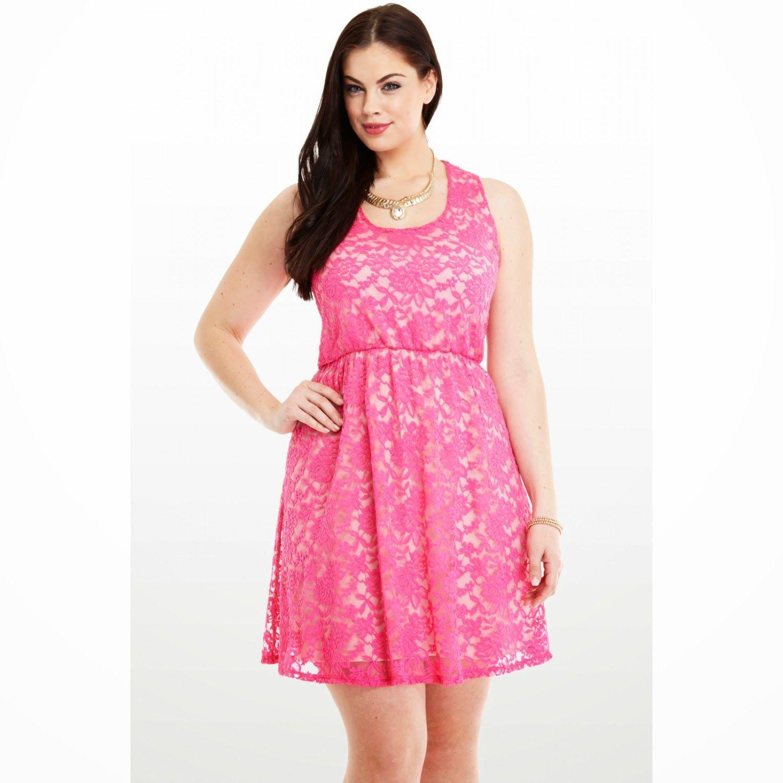 vestidos-casuales-gorditas-2015-rosa.jpg (1500×1500) | Ideas pa ...