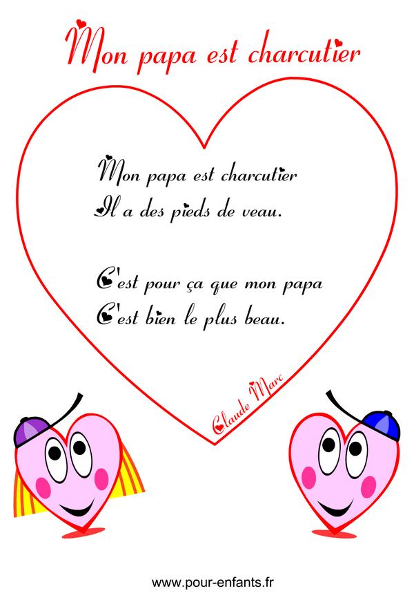 F te des p res po me humoristique imprimer en images - Poeme d amour a imprimer ...