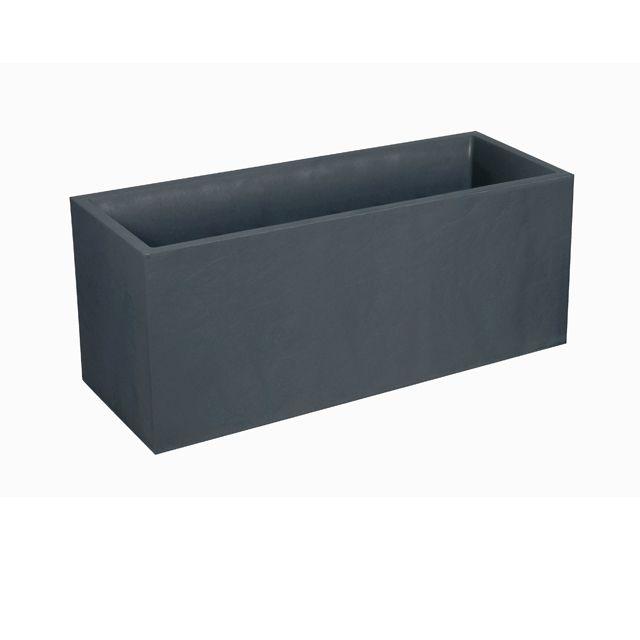 jardini re polypropyl ne eda volcania anthracite 99 5 x 39 x cm. Black Bedroom Furniture Sets. Home Design Ideas