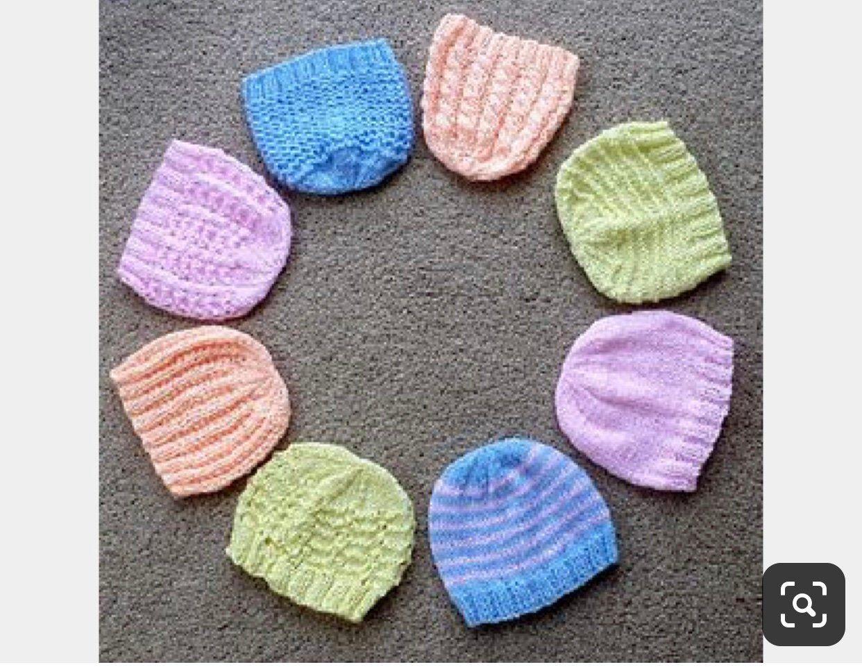 Preemie Hats Bulk Nicu Donation Micro Preemie Hats Hospital