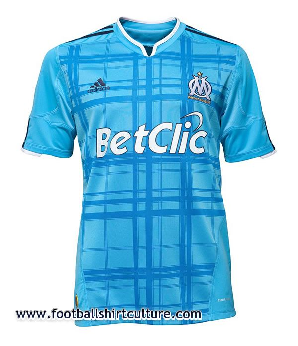 Olympique de Marseille 10 11 Away Adidas Kit   10 11 Kits   Football Shirt  Culture.com 64c888c33aab