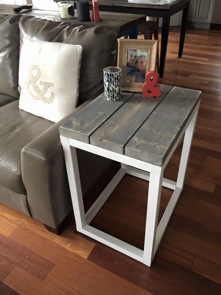 Rustic home decor ana white diy shanty 2 chic rustic shabby chic coffee table for White end tables for living room