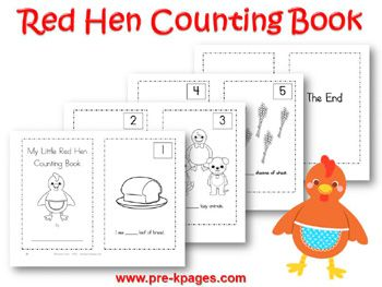 Free Printables Little Red Hen Printable Set Red hen Hens and