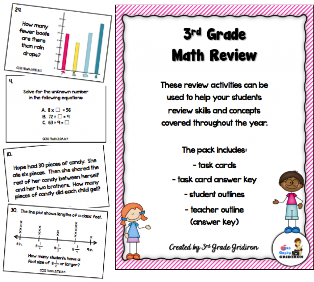 3rd Grade Math Review Freebie