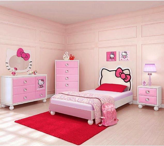 Cabeceras De Cama De Hello Kitty Dormitorios Para Ninas Cama De Hello Kitty Camas Para Ninas Alcobas Para Ninos