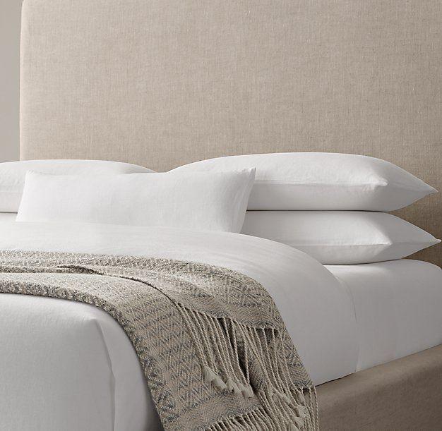 RH ModernAlpaca Diamante Oversized Bed Throw: FOG
