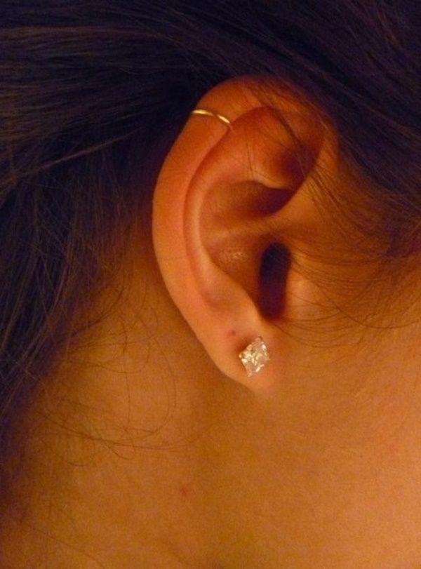 helix piercing (7) | Cartilage piercing in 2019 | Ear ...